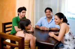 family-talking